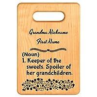 Personalizedカスタム彫刻キッチンカッティングボードMade Out Of Maple, the Perfectカスタマイズされたモノグラムカッティングボード。GREAT GIFT FOR THE BESTおばあちゃん。おばあちゃん定義 S