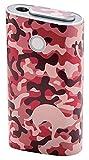 エレコム 電子タバコ glo 専用 (グロー) スキンシール シール ステッカー 【曲面までキレイに貼れる】 日本製 迷彩 猫 ピンク ET-GLDSCC1PN