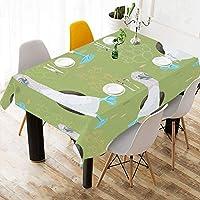MDKHJ テーブルクロス 鳥 アオアシカツオドリ テーブルカバー 食卓カバー コットンリネン 綿 撥水 耐熱 北欧 150*213cm 長方形