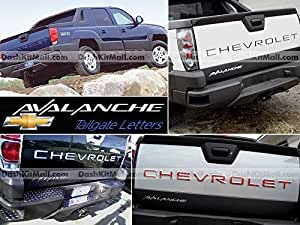 SF Sales USAクロムテールゲートLetters Inserts for Chevrolet Avalancheませんデカール
