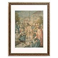アルブレヒト・デューラー Albrecht Durer 「The Raising of Lazarus from the Dead」 額装アート作品