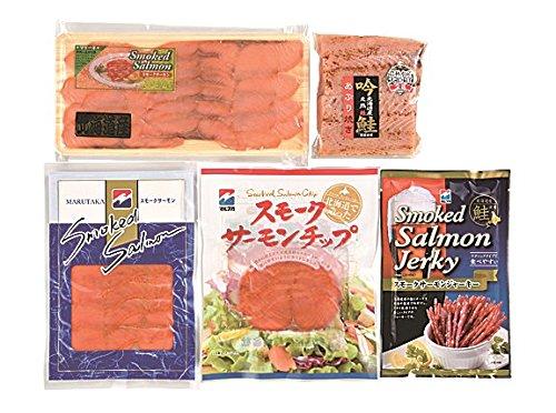 新巻き鮭 紅鮭 贈答ギフトセット (スモークサーモン & 炙り焼き)