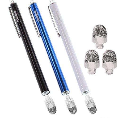 aibow タッチペン スマートフォン タブレット スタイラスペン iPad iPhone Android 3本+ペン先3個 8mm (ブ...
