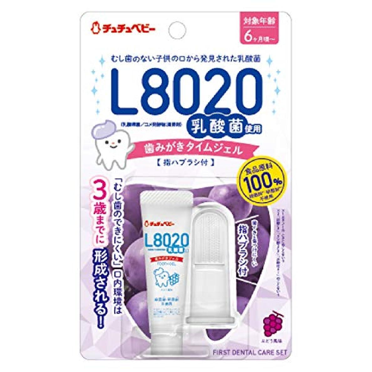 アリーナ不良品香水チュチュベビー 歯磨きジェル ぶどう風味 8g 指ブラシ付き