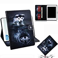 For All-New Kindle 2019 ケース, PU Leather Card Slots Cover with Smart Magnetic Snap Soft TPU Protective ケース Stand Cover for New Kindle 10th Genetation 2019 Release Dog