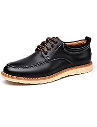 Danncoolカジュアルシューズ メンズ 快適 革靴 シンプル&おしゃれ シークレットシューズ ローカット スニーカー クッション性 デッキシューズ
