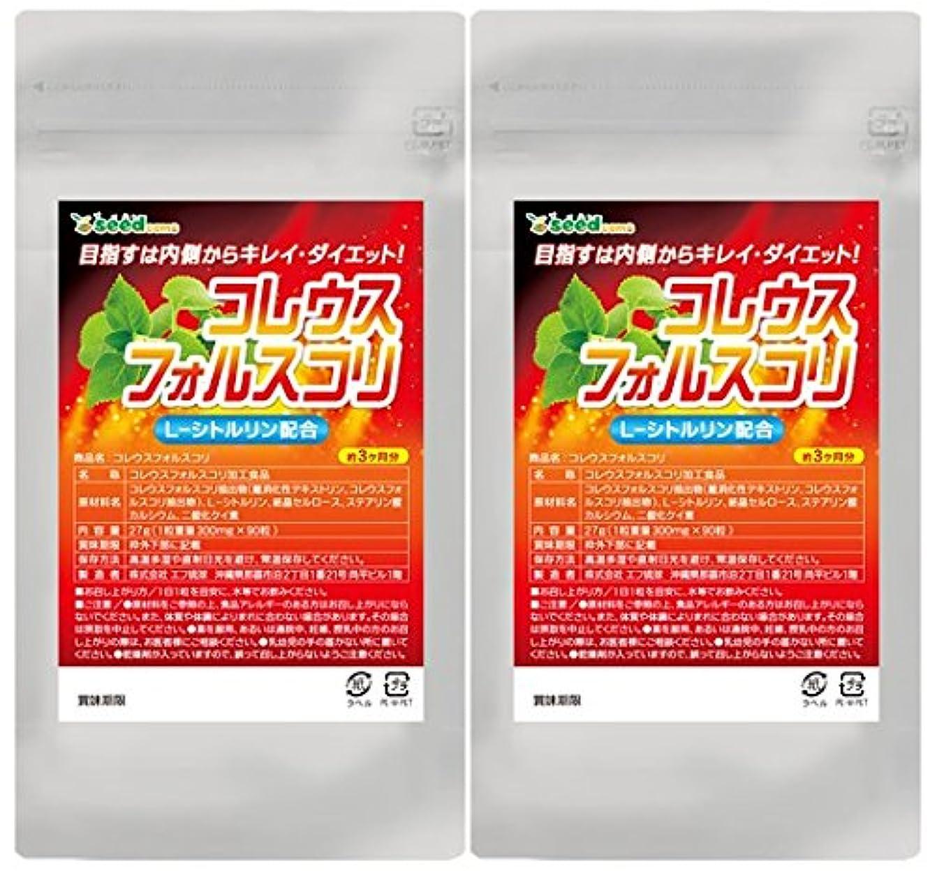 発症製品委託【 seedcoms シードコムス 公式 】コレウスフォルスコリ シトルリン入り (約6ケ月分)