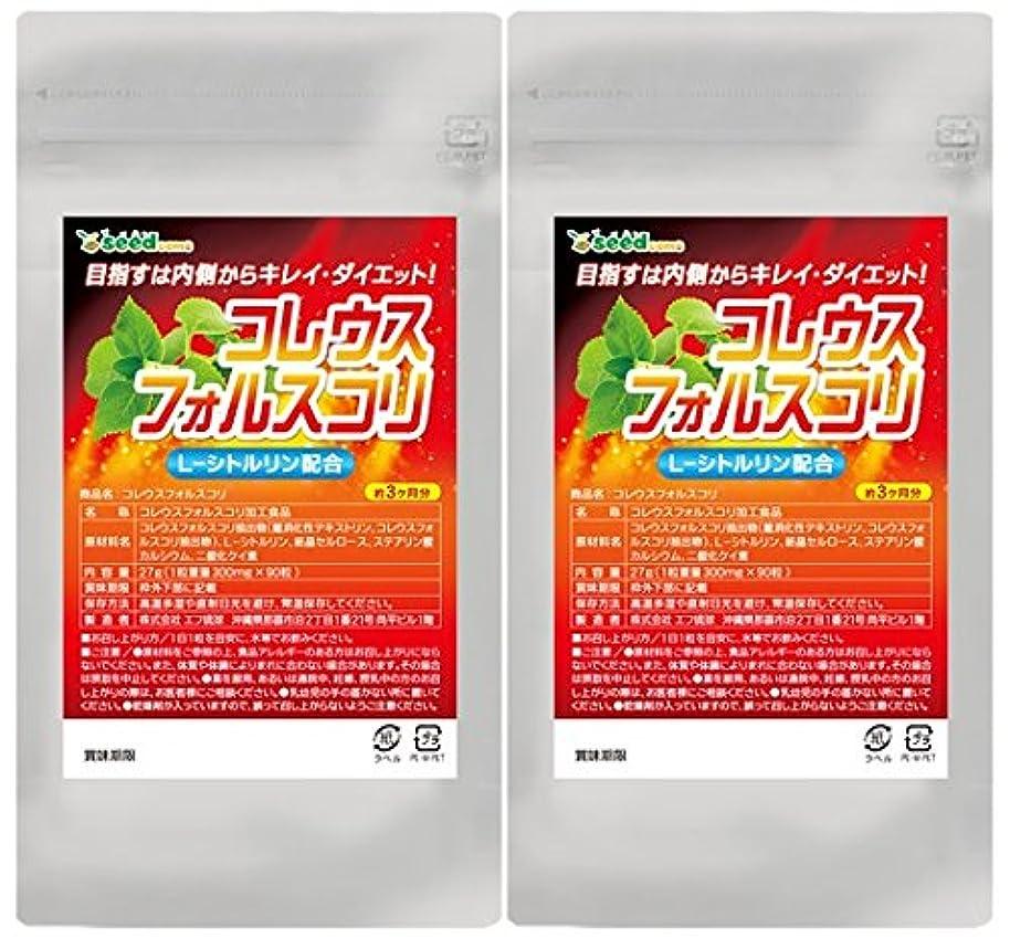 くまポルノ治すシードコムス seedcoms コレウスフォルスコリ シトルリン 配合 約6ヶ月分 180粒