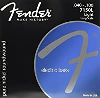Fender エレキベース弦 Original 7150 Bass Strings, Pure Nickel, Roundwound, Long Scale, 7150L .040-.100