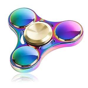 指スピナー QcoQce スピン フォーカス玩具 ハンドスピナー Hand spinner Fidget Spinner Toy EDC ADHD ストレス解消 暇つぶし 脳トレー (k11カラフル)