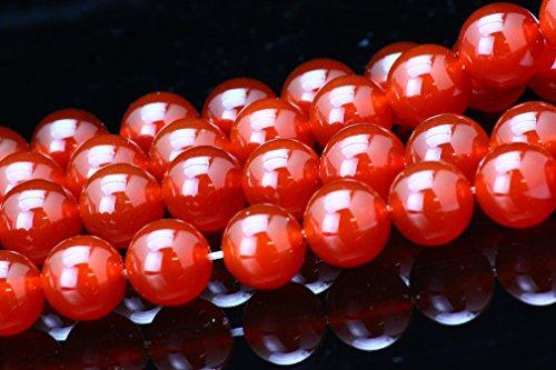 【京珠堂】AAA 赤瑪瑙 Red Agate 8mm~14mm パワーストーン 一連 (6mm)