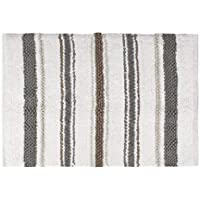 Saturday Knight Colorware Stripe Bath Rug, Neutral [並行輸入品]