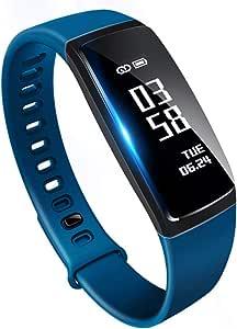 最新版 スマートブレスレット 活動量計 心拍 歩数計 防水 Bluetooth スマートウォッチ 着信電話 LINE通知 iphone & Android