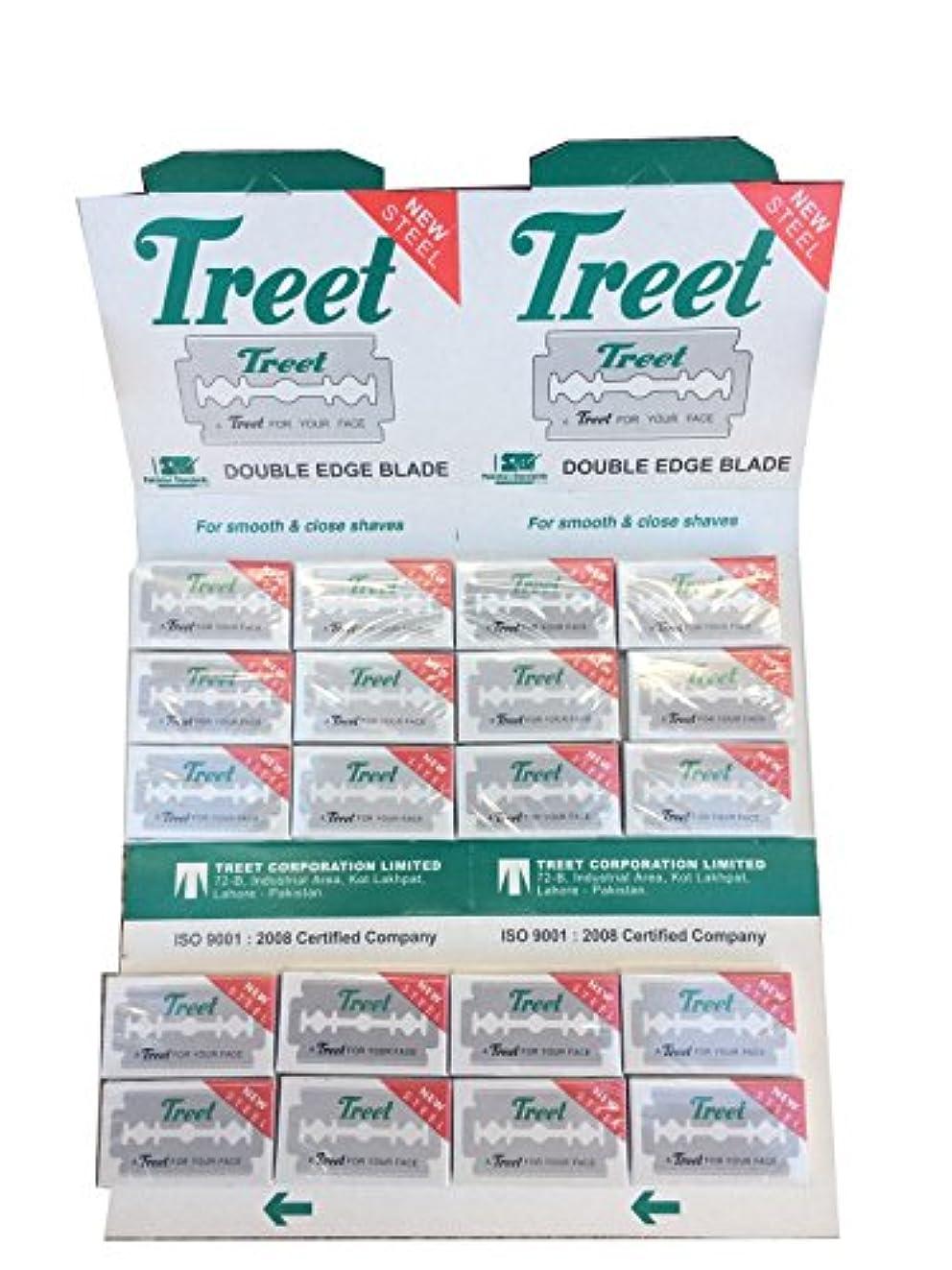 ねじれ平野論争Treet New Steel 両刃替刃 200枚入り(10枚入り20 個セット)【並行輸入品】