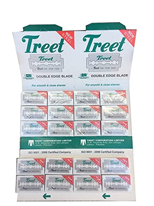 ミルク哀ラベルTreet New Steel 両刃替刃 200枚入り(10枚入り20 個セット)【並行輸入品】