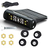 Nrpfell Smart Car TPMS Tyre Pressure Monitoring System Solar Power Charging Digital LCD Display Auto Security Alarm Systems