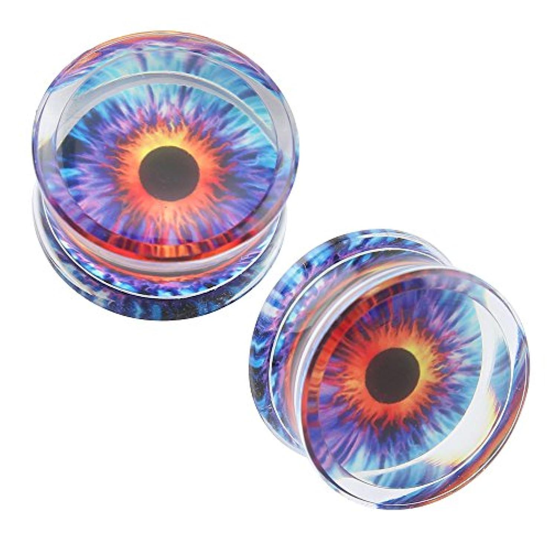 ロンドンカカドゥ会議眼球アクリル透明パープルファッション耳トンネルプラグエクスパンダゲージピアス