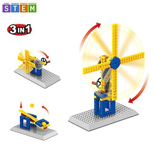 SEIGNEER 3 IN 1 機械式風車組み立てセット 知育玩具 50ピース...