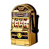Mmrm ビンテージ ミニ 小型 スロットマシン 幸運のおもちゃ 子供用 ゴールド