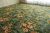 フリーカット タフト ラグ マット ソレイユ グリーン 江戸間 約 90x180 cm 約 1畳