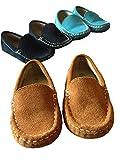 子供靴 モカシン スリッポン キッズシューズ  男の子13 13.5 14 14.5 15 15.5 (24# 内寸 15cm, ブラウン)