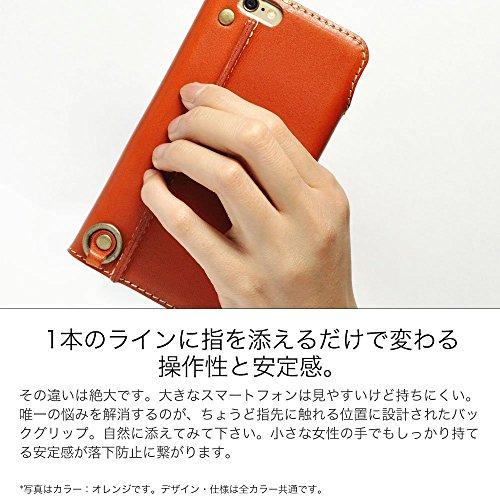 『iPhone6s Plus iPhone6 Plus 手帳型 ケース オイルレザー 本革(栃木レザー) (右手持ち, ブラウン)』の2枚目の画像