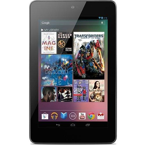 【並行輸入品】Google Nexus 7 Wi-Fi Tablet 16GB (Android 4.1 Jelly Bean) 日本語内蔵 おまけつき(ホストケーブル・ドロイド君巻取り式USBケーブル)