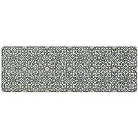 フリースタイル・by Mannington Ironフィリグリーパターン装飾ビニールエリアラグ 2'x6' FRE3532X6