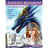 Fantasy Kingdom. Grayscale Adult coloring book