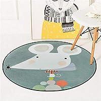 漫画 丸め 漫画動物ラウンドカーペット寝室のリビングルームのコーヒーテーブルルームぶら下げバスケットガーデンブランケットコンピュータチェアマット 反発 ラグ ラグ 円形 90 ラグ デザイン