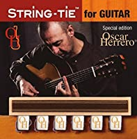 OHSTGW TENOR Oscar Herrero Signature String-Tie Tailpiece BridgeBeads Set for Classical or Flamenco Spanish Guitar PEARL BONE WHITE Color Bridge Beads. [並行輸入品]