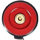 Runcircle ガス缶 変換 OD缶からCB缶 ガス詰め替えアダプター 漏れ防止 アルミ合金 ガスタンクアダプター ガスボンベ ガスボトル バーベキュー ガス機器が使用可能 キャンプ アウトドア用 レッド