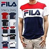 FILA フィラ ロゴ Tシャツ メンズ 半袖 スポーツ ブランド M 06. ホワイト B