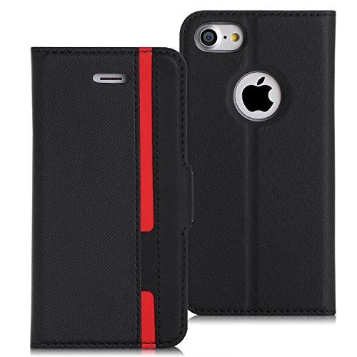 iPhone8 ケース iphone7ケース,Fyy [RFIDブロッキング] PUレザー ケース ...
