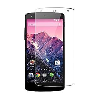 Google Nexus5 強化ガラスフィルム 【Jepop】0.3mm 超薄型 2.5D表面硬度9H ラウンド処理 飛散防止処理 指紋防止 気泡防止 高透過率保護フィルム 液晶保護フィルム(Google Nexus5, 強化ガラスフィルム)