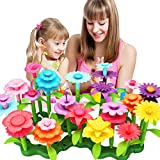 Flower Garden Building Set 3-6 Year Old Girls Toddlers and Kids Best Christmas Birthday Gifts for Indoor and Outdoor Creativity Play 98pcs Flower Set, 12pcs Simulation Butterfly and Greeting Card