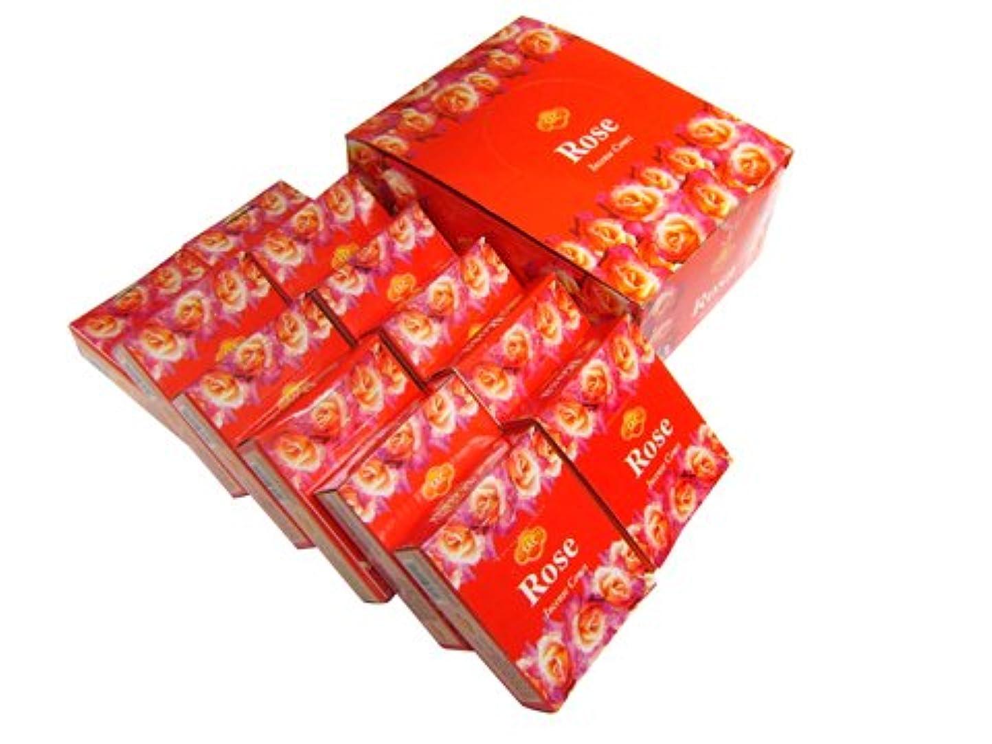 ボウル担当者警報SANDESH SAC (サンデッシュ) ローズ香コーンタイプ ROSE CORN 12箱セット