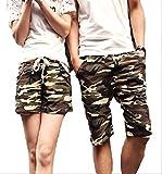 (アルファーフープ) α-HOOP カモフラ ペアルック 迷彩 柄 ハーフ ショート ファッション パンツ 短 パン S ~ XXL 大きい サイズ も メンズ レディース 用 AA29