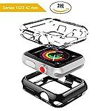 ナイキ 腕時計 DesertWest Apple Watch ケース カバー 42mm 2枚セット アップルウォッチケース フィルム カバーTPU全面保護ケース 耐衝撃 装着簡単 For Apple Watch Series 3/2/1 Nike+