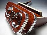 数量限定  180/185系ハイラックスサーフ フロントテーブル ウッド 携帯ホルダー中央 茶フルメッキ