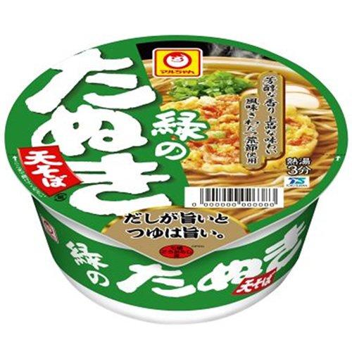マルちゃん 緑のたぬき天そば (関西) 101g×12個
