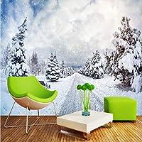 Wxmca カスタム3D壁画壁紙雪のクリスマスの背景の壁画浴室の寝室の壁紙壁画のリビングルーム-200X140Cm