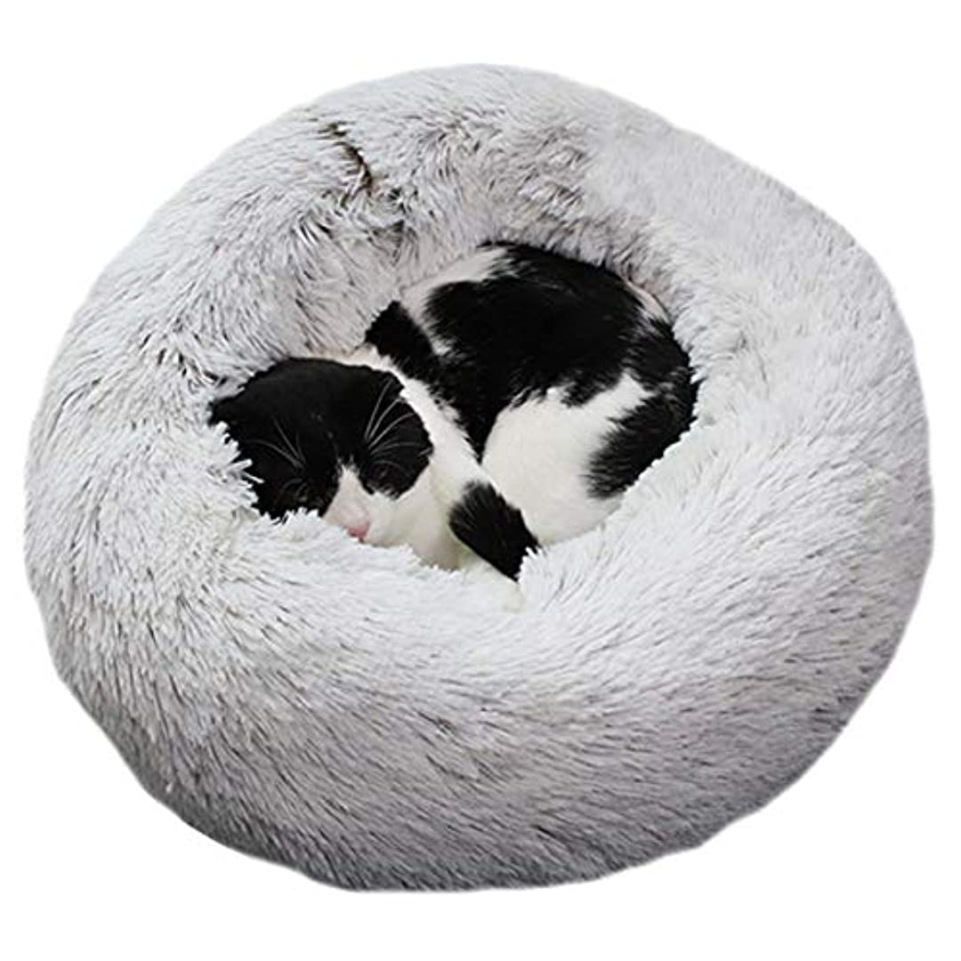 Alligadoペットぬいぐるみドーナツ抱きしめる猫ベッド暖かいソフト厚く高められた犬子犬マットクッション