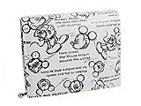ディズニー DISNEY ミッキーマウス デッサン柄 二つ折り 短財布 D1037-WH ホワイト