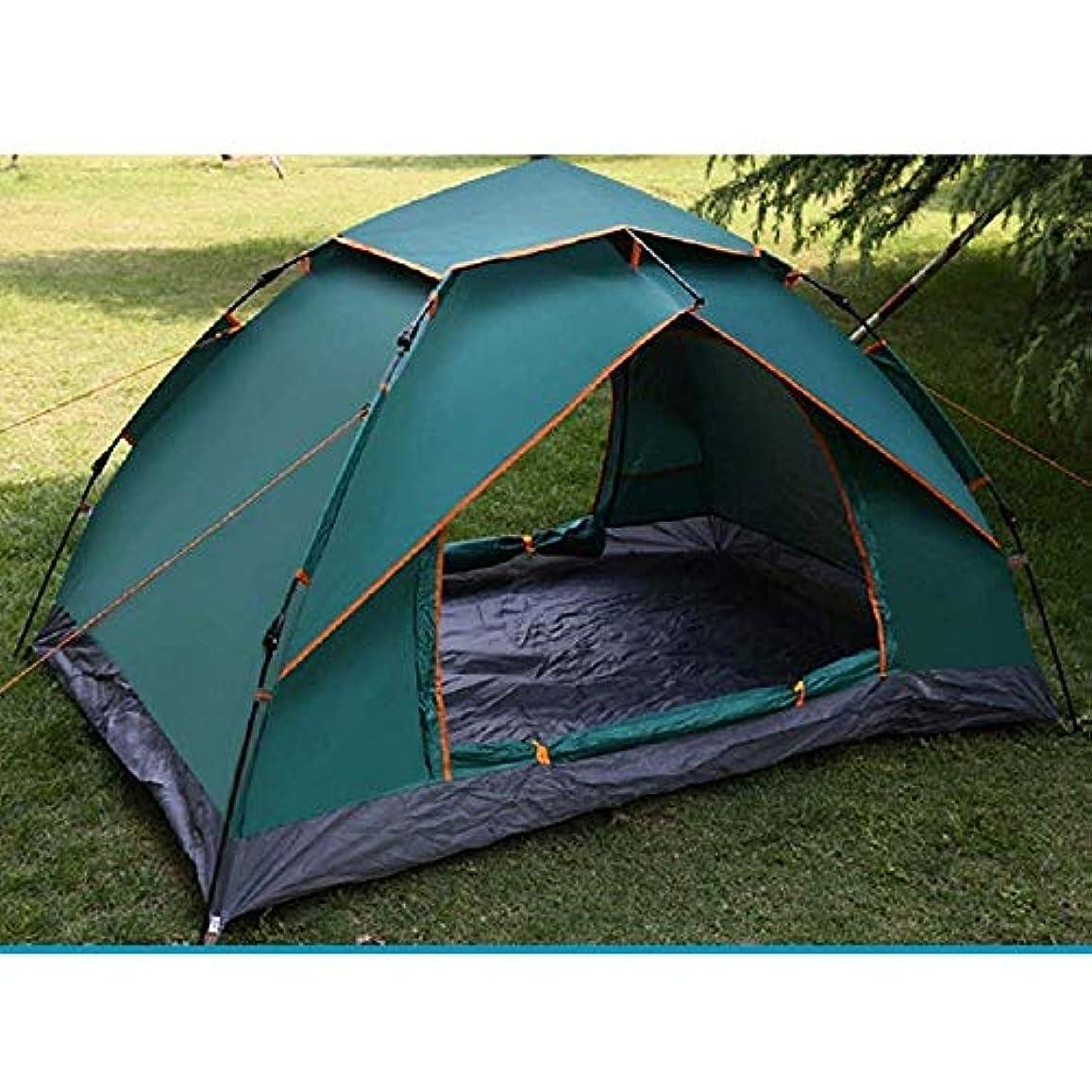 葉扱うセイはさておきSHIJIAN 防水3シーズンファミリーキャンプテント3?4人、自動ビーチ日よけ日焼け止めテント、キャリーバッグ、二重層で運ぶために軽量