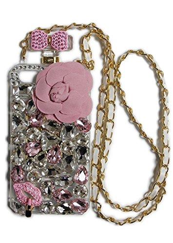 JABIT iPhone7 キラキラで ゴージャス おしゃれ 香水ボトルデザイン ストーン 花型 リボン チェーン付 ジャケット かわいい iPhone アイフォン スマホケース 携帯ケース カバー 全2色 (Bタイプ) ip6-544-i7-silverの詳細を見る