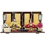 雛人形 優香 親王飾り 平飾り 紅溜塗 幅60cm [fz-68] ひな人形