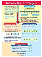 Introduction to Integers Visual Learning Guides Set/5-4-Panel 11 x 17 Laminated Guides Full-Color Graphic Overview Write-On/Wipe-Off Activities [並行輸入品]