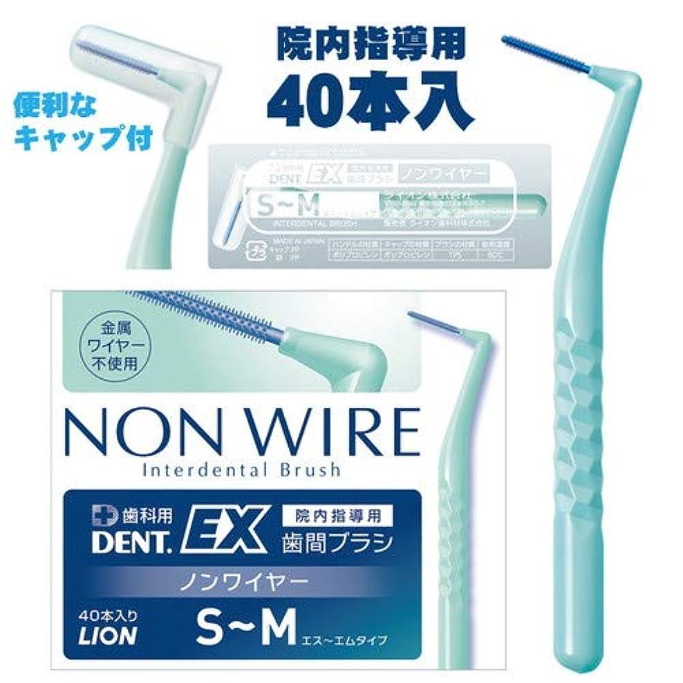 ライオン DENT.EX 歯間ブラシ ノンワイヤー S~M 院内指導用 40本入