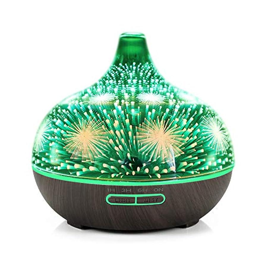 九時四十五分黙認する糸3D Glass Fireworks Ultrasonic Essential Oil Aromatherapy Diffuser,400ml Capacity Aroma Humidifier With 7 Colors...
